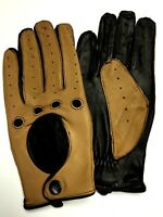 Retro Leather Classic Driving Gloves Mens Womens Fashion Knuckle Cut Air Flow