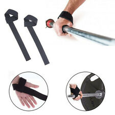 Power Weight Lifting Training Gym Grips Straps Wrist Support Protector Lift SZ