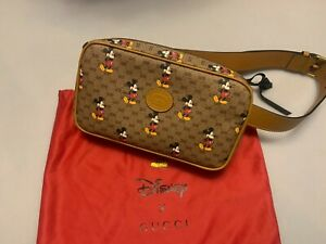 GUCCI Belt Bag Mickey Mouse Print in Beige, 95