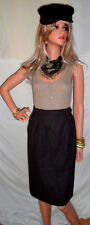 WoW! Rare VINTAGE French YSL SKIRT sz6  Chocolate Brown Wrap LOVE oooohh la la!!