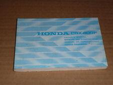 MANUEL UTILISATEUR DU CONDUCTEUR HONDA CBX 400 F 1981->  OWNER'S MANUAL