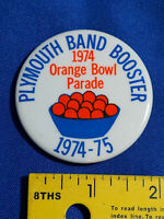 1974-75 Orange Bowl Parade Football Game Plymouth,Indiana Band Booster VTG