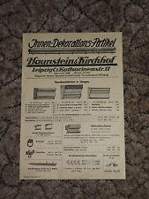 Werbeblatt der Firma Haunstein & Kirchhof