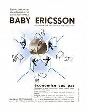 1935 Publicité Téléphone BABY ERICSSON, Intercom-Omnium Téléphonique