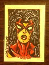 Spider Woman Spider-Man Archives color sketch card 1/1 Anthony Castrillo