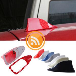 1* RED Shark Fin Car Roof Antenna Radio FM/AM Signal Aerial Accessories AI