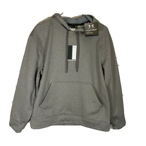 Under Armour Fit New York Jets Hoodie Mens M Loose Gray Storm1 Water Resist NWT