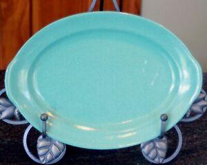 Prizer Ware Oval Turquoise Enameled Cast Iron Steak / Sizzle Platter Model SP-1