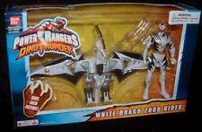 "Power Rangers Dino Thunder White Drago Zord Rider with 5"" White Ranger New 2002"