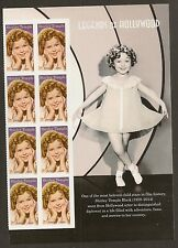 US 5060 Legends of Hollywood Shirley Temple forever panel block 8 MNH 2016