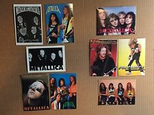 Vintage Metallica (5) 4X6 Post Cards (4) 4X6 Stickers Total Lot of 9 Mint