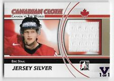 11/12 ITG CANADA vs WORLD 'FINAL VAULT' SILVER JERSEY #CCM25 Eric Staal 1/1
