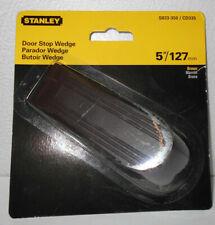 """Lot of 4 New Stanley Rubber 5"""" Brown Door Stop Wedges"""