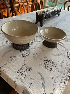 """GG Collection Gracious Goods 12"""" AND 9.5"""" Serving Bowls from Gerson"""
