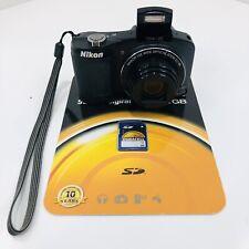 Nikon Coolpix L610 16 MP 14x Wide Zoom Full HD Digital Camera Tested w/ SD Card