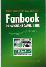 RUGBY WORLD CUP 2003 HEINEKEN RWC FANBOOK/HANDBOOK