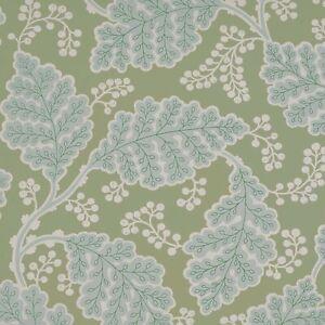 1 Dbl Roll SCHUMACHER 5010392 ESTELLE Green Botanical Arts Crafts Wallpaper