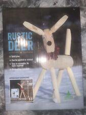 "Adwood Manufacturing 20"" Rustic Deer Solid Pine Wood Kit No Tools Needed New"