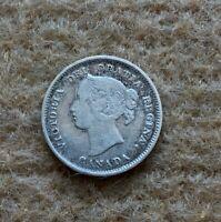 1893 CANADA 5 Cents silver coin