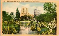 Westlake Park, Elks Club, Los Angeles CA 1941 Vintage Postcard KK1
