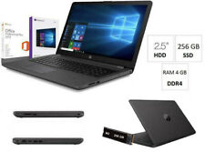 "Notebook Hp 255 G7 15.6"" AMD A4-9125,Ram 4Gb,Ssd M.2 256Gb,Windows 10 PRO+office"