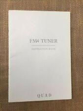 More details for quad fm4 tuner original instruction book