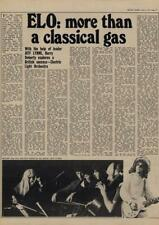 Electric Light Orchestra Jeff Lynne ELO : more than a gas Interview/article 1977
