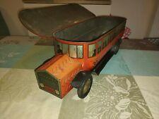 Antique biscuit box tin litho toy bus truck  1920 tole no huntley Palmers boorne