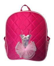 Dance Backpack Quilted Sequin Ballerina Tutu Backpack Medium Girls 4-9