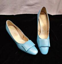True Vintage Naturalizer Powder Blue Heels Shoes sz 8 Euc Leather, Patent
