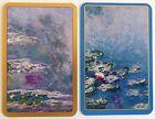 PAIR SWAP CARDS. WATER LILIES. ARTIST CLAUDE MONET. IMPRESSIONISM. 1995 CASPARI