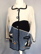 Manteau femme en laine vintage 80 Tempo Reale Taille FR44 US12 UK16