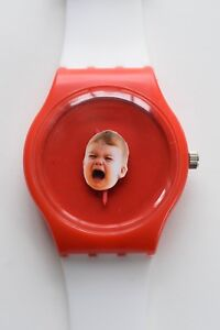 Retro 80s designer watch - Crying Baby Watch