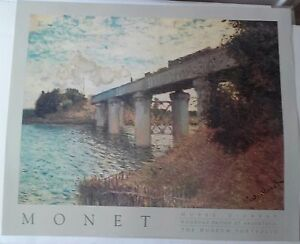 Claude Monet Railroad Bridge Argenteuil Musee D Orsay Vintage 1989 Poster