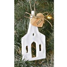"Mud Pie Christmas Tree Ornament ""2016 Wedding Chapel""  Ceramic  NEW"
