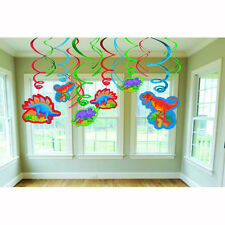 Dinosaur Party Supplies Decorations SWIRL DECORATIONS Pack Of 12