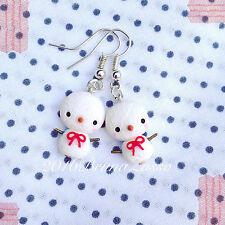 Orecchini Pupazzo Neve Cute Snowman Earrings Fimo PolymerClay Kawaii Christmas