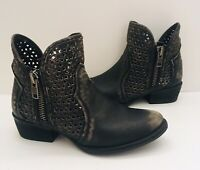 Circle G corral distressed Booties Leather Women's Sz 9
