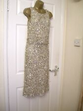 8 MIDI PENCIL DRESS EMBELLISHED BY FROCK & FRILL IRIDESCENT WEDDING SUMMER NEW