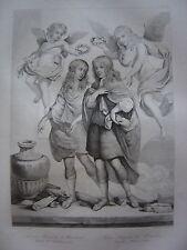 Grande gravure Portrait Louis Alexandre Comte Toulouse et L. Auguste de BOURBON