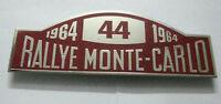 RALLY MONTE CARLO 1964 - 44 NO CAR GRILL BADGE EMBLEM MG JAGUAR TRIUMPH PORSCHE