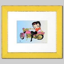"Betty Boop ""Betty Boop on Motorcycle"" Framed SeriCel"