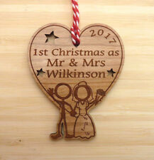 First Christmas as Mr & Mrs Christmas Decoration | Personalised Mr and Mrs Gift