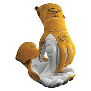 Caiman 1540-4 Tig Welding Gloves, Goatskin Palm, M, Pr