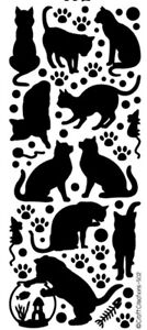 PEEL OFF STICKERS - CATS - CARD MAKING - CRAFTING -  502