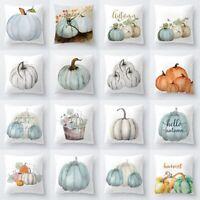 Sofa Throw Cover Watercolor Pumpkin Pillows Cushions Halloween #gmx Balss