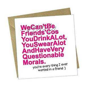 Funny Greeting Card - Questionable Morals