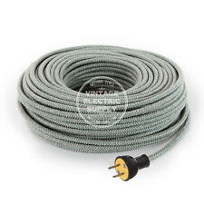 lime cordset extension cord cloth covered round rewire set 3 8