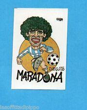 MEXICO 1986-LAMPO/FLASH-Figurina n.55- MARADONA - CARICATURA -Recuperata