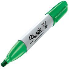 38284 Sharpie Chisel Tip Permanent Marker Green Ink Pack Of 4